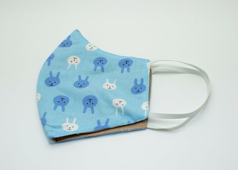 Blue & White Bunny Mask