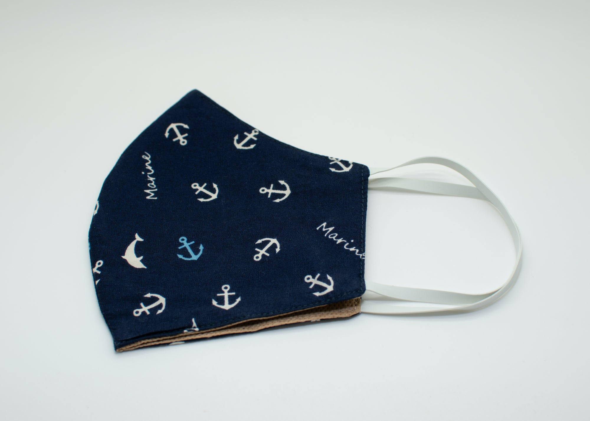 Blue & White Anchors Mask