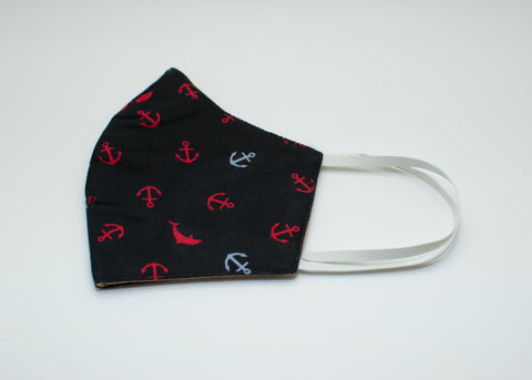 Blue & Red Anchors Mask
