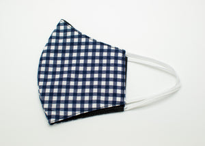 Navy Checkered Mask