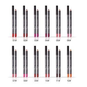 PUDAIRE™ 12 Colors Lip Liner Pencil Waterproof Non-Marking