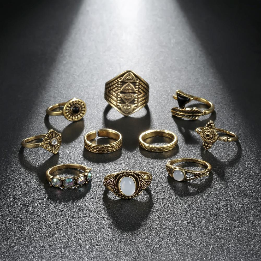 Ariel Ring Stack - 10 Piece Set