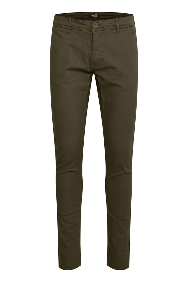 Blend Casual Trousers Olive
