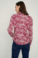 Load image into Gallery viewer, Seasalt Larissa Organic Cotton Shirt Forest Collage Dahlia - Size: 14