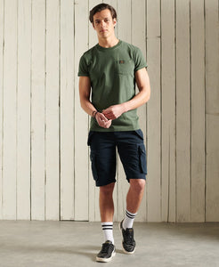 Superdry Organic Cotton Workwear Pocket T-Shirt Four Leaf Clover