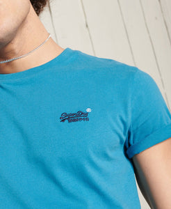 Superdry Orange Label Embroidery T-Shirt Glacier Blue