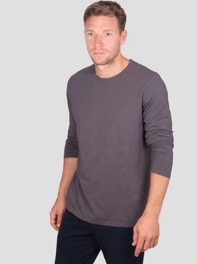 Thought Fairtrade Organic Cotton Long Sleeve Top Walnut Grey