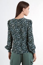 Load image into Gallery viewer, Louche Lima Daisyfield Print Long Sleeve Blouse