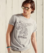 Load image into Gallery viewer, Superdry Military Box Fit Graphic T-Shirt Grey Marl