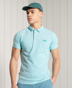 Superdry Classic Pique Short Sleeve Polo Shirt Spearmint