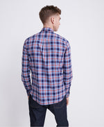 Load image into Gallery viewer, Superdry Workwear Lite Long Sleeve Shirt Navy Check