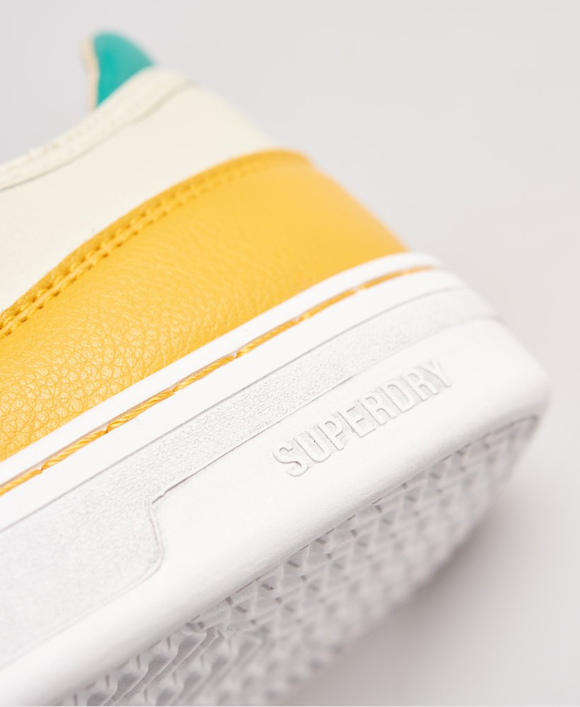 Superdry Vegan Basket Lux Low Trainers Mustard/Grey/Teal