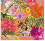 Load image into Gallery viewer, Powder Small Satin Square Blooming Jungle Orange