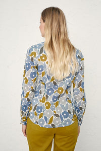 Seasalt Larissa Organic Cotton Shirt Chalked Blooms Wild Pansy