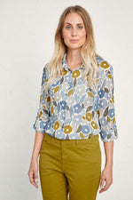 Load image into Gallery viewer, Seasalt Larissa Organic Cotton Shirt Chalked Blooms Wild Pansy