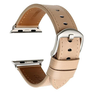 Beige / Brown / Black Leather (For Apple Watch) (TWS026)