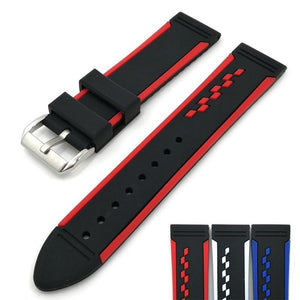 Black Rubber Watch Band (TWS126)
