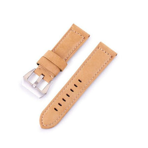 Blue / Brown / Black Calf Leather Watch Band With Silver Buckle (TWS045)