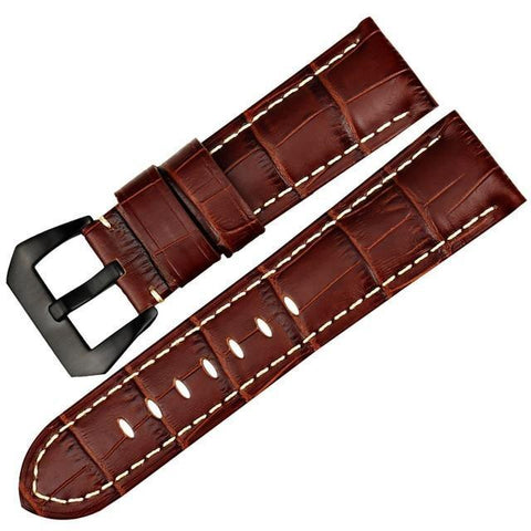 Blue / Brown / Black Leather (Silver / Black Buckle) (TWS007)