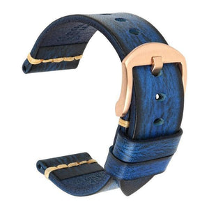 Blue / Green / Brown Leather (Silver / Black / Gold / Rose Gold Buckle) (TWS002)