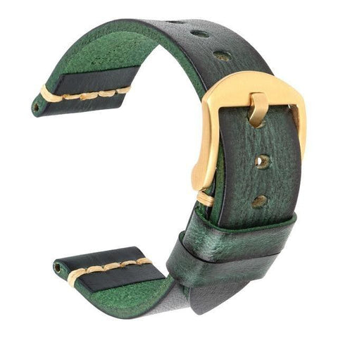 Image of Blue / Green / Brown Leather (Silver / Black / Gold / Rose Gold Buckle) (TWS002)
