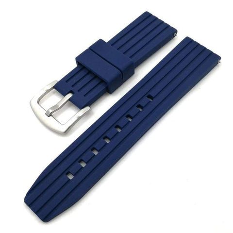 Image of Blue / Grey / Black Rubber Watch Band (Quick Release Pin) (TWS090)