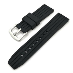 Blue / Grey / Black Rubber Watch Band (Quick Release Pin) (TWS090)