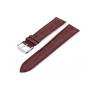Brown / Black Leather (Silver Buckle) (TWS009)