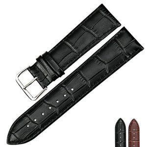 Brown / Black Leather (Silver Buckle) (TWS013)