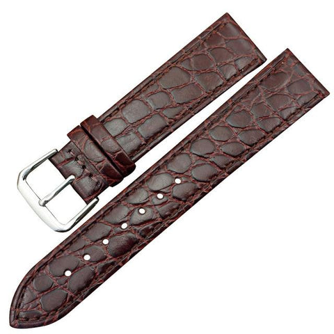 Brown / Black Leather (Silver Buckle) (TWS014)