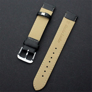 Brown / Black Leather Watch Band (TWS111)