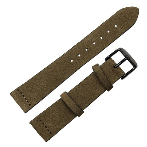 Image of Brown / Grey / Black Suede Leather Watch Band With Silver / Gold / Rose Gold / Black Buckle (TWS091)