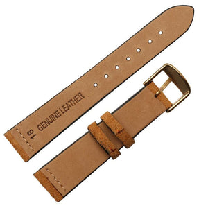 Brown / Grey / Black Suede Leather Watch Band With Silver / Gold / Rose Gold / Black Buckle (TWS091)
