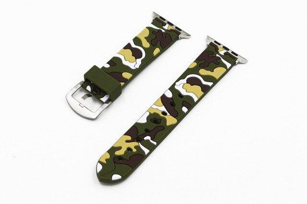 Camouflage Rubber Watch Bands (For Apple Watch) (TWS117)