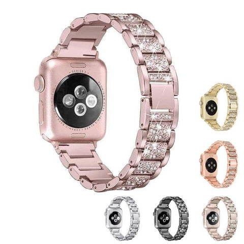 Crystal Stainless Steel Bands (For Apple Watch) (TWS052)