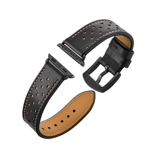 Image of Green / Brown / Grey/ Black Leather Watch Band (For Apple Watch) (TWS146)