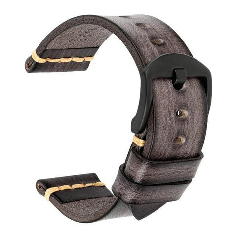 Grey Leather (Silver / Black / Gold / Rose Gold Buckle) (TWS002)