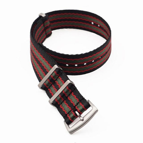Image of NATO Nylon Watch Band With Silver Buckle (TWS131)