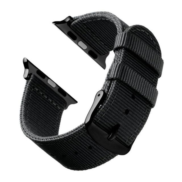 Nylon Watch Bands With Silver / Black Buckle (For Apple Watch) (TWS107)