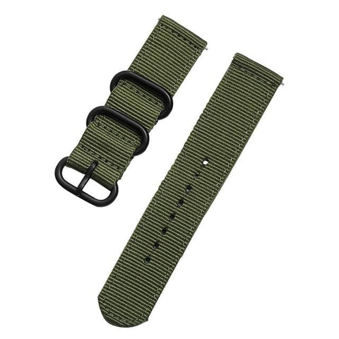 Image of Orange / Blue / Green / Black Nylon Watch Band With Black Buckle (Quick Release Pin) (TWS055)