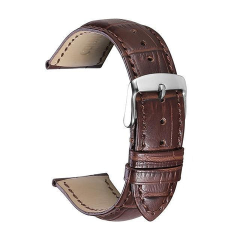 Image of Orange / Red / Blue / Beige / Brown / Black Leather (Silver Buckle) (TWS010)
