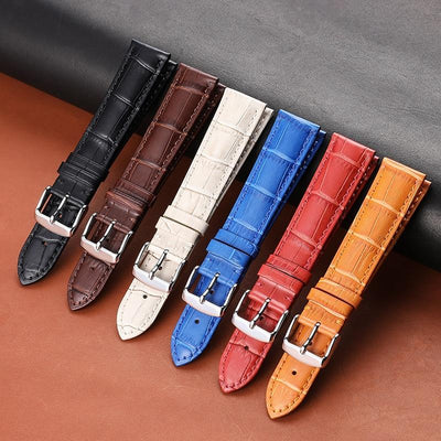 Orange / Red / Blue / Beige / Brown / Black Leather (Silver Buckle) (TWS010)
