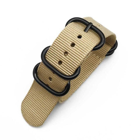 Image of Orange / Red / Blue / Green / Beige / Grey / Black ZULU Watch Band With Black Buckle (TWS113)