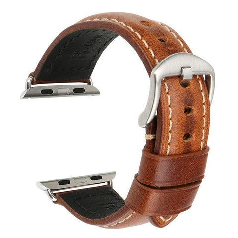 Red / Blue / Green / Brown / Black Leather (For Apple Watch) (TWS027)