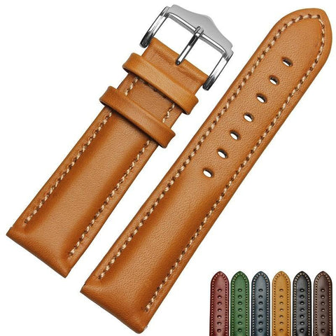 Red / Blue / Green / Brown / Black Leather (Silver Buckle) (TWS016)
