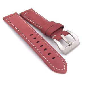 Red / Blue / Green / Brown / Black Leather Watch Band (TWS097)