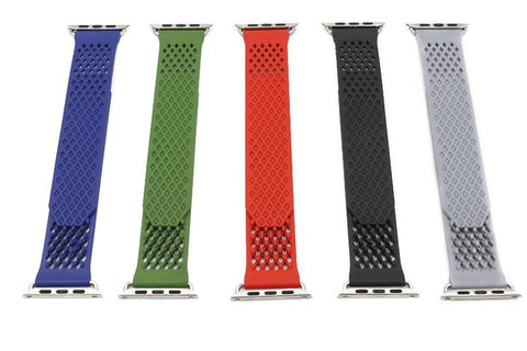 Image of Red / Blue / Green / Grey / Black Rubber Watch Band (For Apple Watch) (TWS060)