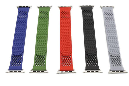 Red / Blue / Green / Grey / Black Rubber Watch Band (For Apple Watch) (TWS060)