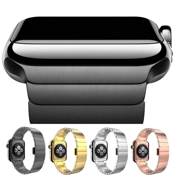 Silver / Black / Gold / Rose Gold Stainless Steel Watch Band (For Apple Watch) (TWS030)