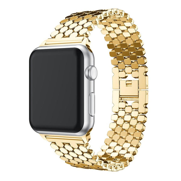 Silver / Gold / Rose Gold / Black Stainless Steel Watch Band (For Apple Watch) (TWS105)